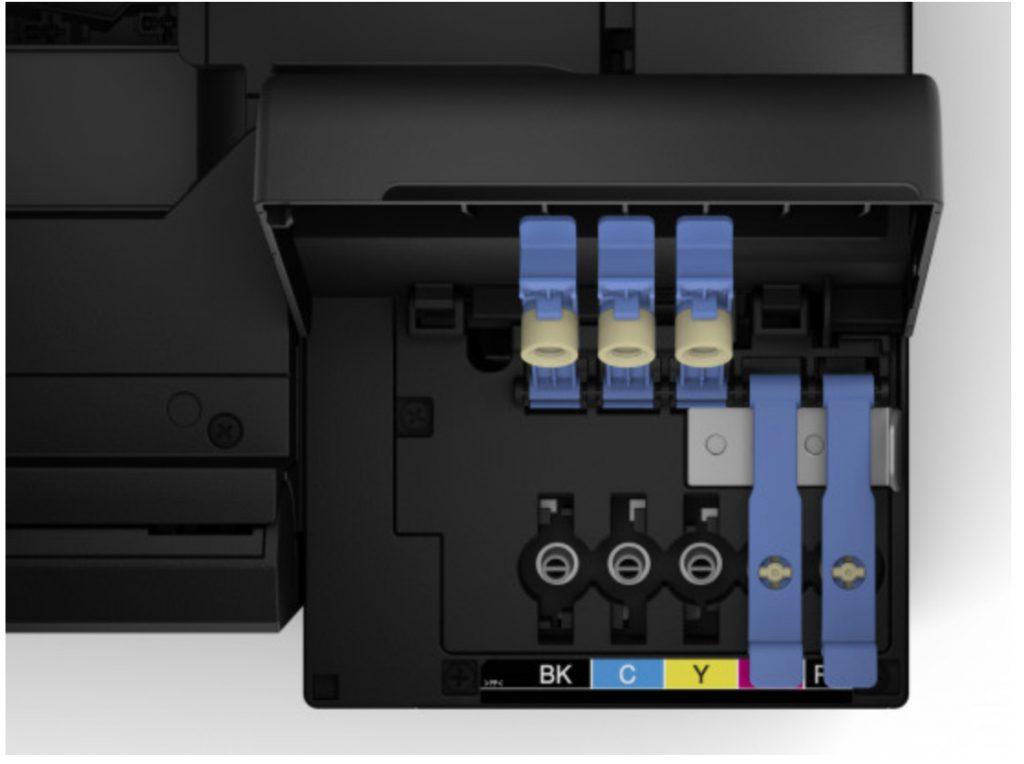 les réservoirs d'une Imprimante sans cartouche