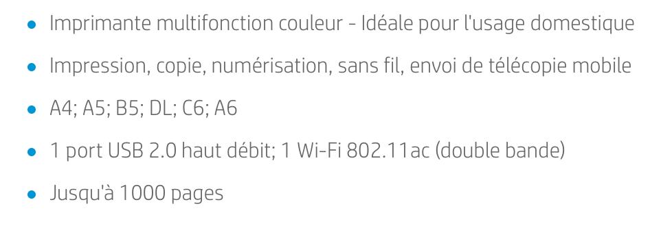 Les caractéristiques de l'imprimante HP Envy Pro 6420